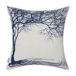 CaliTime Canvas Throw Pillow Cover Case for Couch Sofa Home,