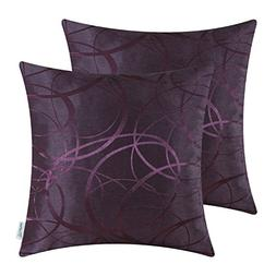 Pack of 2 CaliTime Cushion Covers Throw Pillow Covers Cases