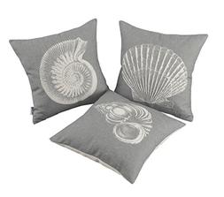 CaliTime Set of 3 Canvas Throw Pillow Covers Cases for Couch