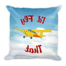 Custom Aviation Throw Pillow  - Personalized w/ your Airplan