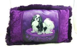"CUTE JAPANESE CHIN DOG PILLOW 20""x12"" 38018 BY ACK"