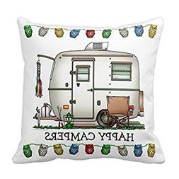 Cute Rv Vintage Glass Egg Camper Travel Trailer Home Throw P