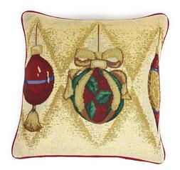 DaDa Bedding Golden Christmas Ornaments Throw Pillow Covers