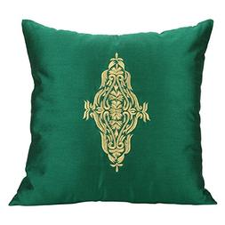 Emerald Green Damask Pillow Cover For Couch - Emerald Green