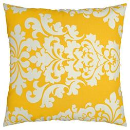 JinStyles Damask Outdoor Decorative Throw Pillow Cover