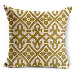HomeTaste®Dark Gold Quatrefoil Geometry Decorative Thick Co