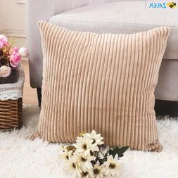 HOME BRILLIANT Decor Decorative Soft Velvet Corduroy Striped