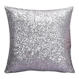 Decor Pillow Case,Neartime Solid Color Glitter Sequins Cafe