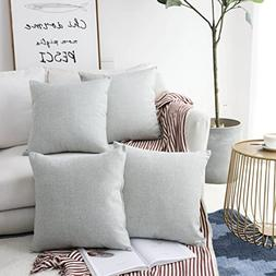 HOME BRILLIANT Decor Woven Fine Burlap Lined Linen Pillowcas