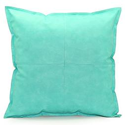 Acanva Decorative Accent Throw Pillow Faux Leather Cushion,