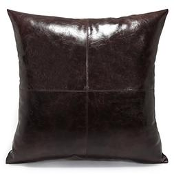 Acanva Decorative Accent Throw Pillow Faux Leather Cushion w