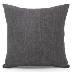 Acanva Decorative Accent Throw Pillowcase Cover Only - Black