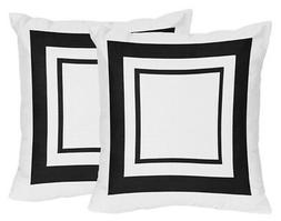 Set Of 2 Decorative Accent Throw Pillows For Jojo Black & Wh