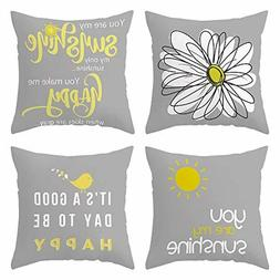 Decorative Cute Throw Pillow Covers for Couch Sofa or Bed Se