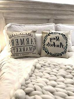 The Southern Jarring Co. Decorative Farmhouse Throw Pillow C
