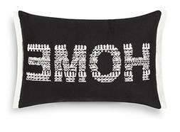 Threshold Decorative Home Throw Pillow,Ebony