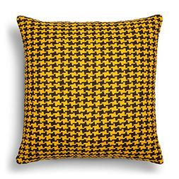 Threshold Decorative Houndstooth Oversized Throw Pillow,Yell