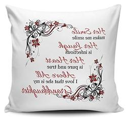 OneMtoss Decorative Inspirational Quotes Pillow Cover Her Sm