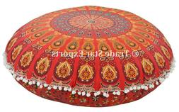 Decorative Large Floor Pillow with Insert Mandala Meditation
