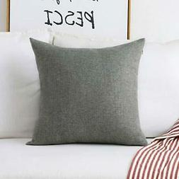 Home Brilliant Decorative Linen Square Throw Pillow Cases Cu