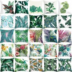 Decorative Pillow Covers Pillows Cases Sofa Throw Plant Prin