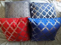 Decorative Silver Patterned Throw Pillows Home Decor Couch B