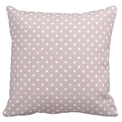 Decorative Square White Polka Cotd Pattern Throw Pillow Case