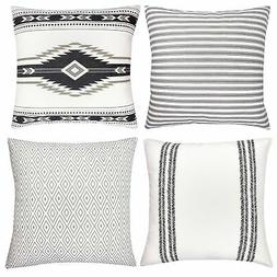 Woven Nook Decorative Throw Pillow Covers ONLY for Couch, So