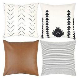 Decorative Throw Pillow Covers Only For Couch, Sofa, Or Bed