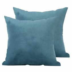Decorative Velour Throw Pillow Cushion Covers 18 x 18 Inch T