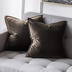 MIULEE Pack of 2 Decorative Velvet Throw Pillow Cover Soft D