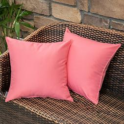 MIULEE Pack of 2 Decorative Outdoor Waterproof Pillow Cover
