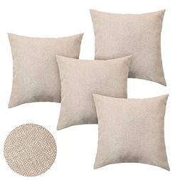 Deconovo Decorative Woven Fine Faux Linen Cushion Case Throw