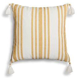 Threshold Decorative Woven Striped Throw Pillow,Sour Cream