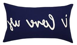 DecorHouzz I love us Appliqued Decorative Cushion Cover Pill