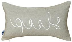 DecorHouzz Sleep Sentiment Embroidered Pillow Cover Cushion