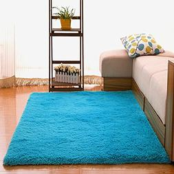 OJIA Deluxe Home Decorative Soft Shag Area Rug for Living Ro