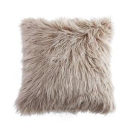 OJIA Deluxe Home Decorative Super Soft Plush Mongolian Faux