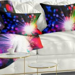 Designart 'Multicolor Optical Fiber Lighting' Abstract Throw