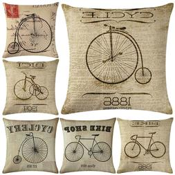 DI- Bike Letter Throw Pillow Protector Case Cushion Cover Be