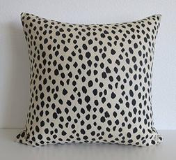 Ballard Designs Dodie beige black spot animal print dot prin