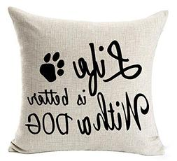 Best Dog Lover Gifts Nordic Warm Sweet Funny Sayings Life Is