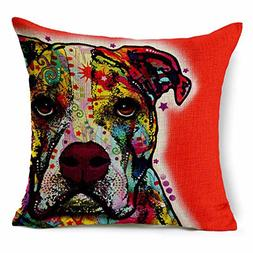 Dog Style Canvas Decorative Square <font><b>Throw</b></font>