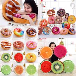 Donut Throw Pillow Case Fruit Seat Pad Home Decor Dining Roo