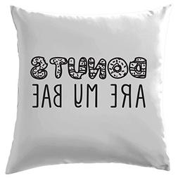 """Donuts Are My Bae Cushion Cover Pillow Case Cover 22"""" X 22"""""""