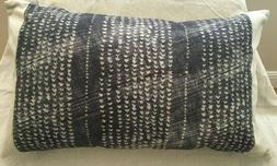 Pottery Barn Dosha Shibori Lumbar Pillow Cover with insert 1