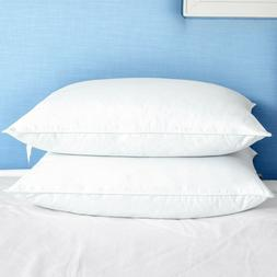 puredown Feather Down Bed Pillow for Sleeping White Set of 2
