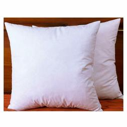 """Down Feather Throw Pillow Inserts 20"""" X 20"""" Fabric Cotton De"""