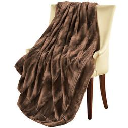Faux Fur Throw Blanket, by Collections Etc