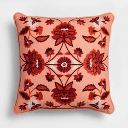 2pk THRESHOLD Embroidered Floral Medallion Throw Pillow | RE